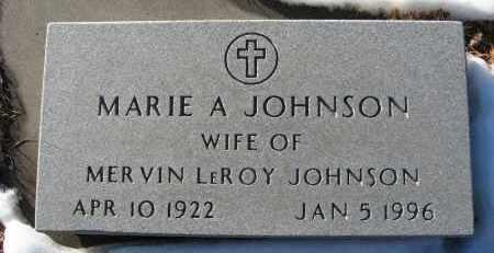 JOHNSON, MARIE A - Holt County, Nebraska | MARIE A JOHNSON - Nebraska Gravestone Photos