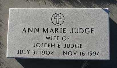 JUDGE, ANN MARIE - Holt County, Nebraska | ANN MARIE JUDGE - Nebraska Gravestone Photos