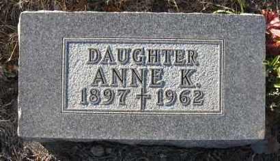 JUDGE, ANNE K. - Holt County, Nebraska   ANNE K. JUDGE - Nebraska Gravestone Photos