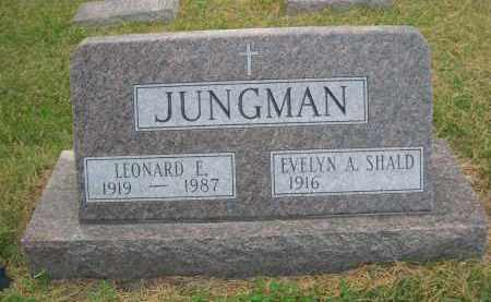 SHALD JUNGMAN, EVELYN A. - Holt County, Nebraska | EVELYN A. SHALD JUNGMAN - Nebraska Gravestone Photos