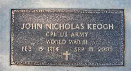 KEOGH, JOHN NICHOLAS - Holt County, Nebraska | JOHN NICHOLAS KEOGH - Nebraska Gravestone Photos