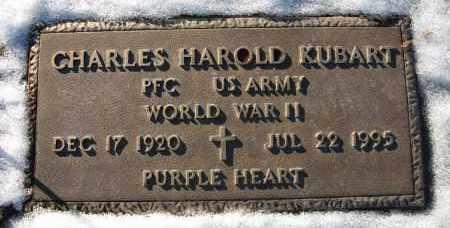 KUBART, CHARLES HAROLD - Holt County, Nebraska | CHARLES HAROLD KUBART - Nebraska Gravestone Photos