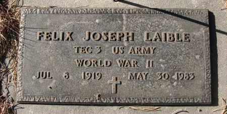 LAIBLE, FELIX JOSEPH - Holt County, Nebraska   FELIX JOSEPH LAIBLE - Nebraska Gravestone Photos