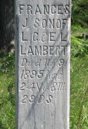 LAMBERT, FRANCES J. (CLOSEUP) - Holt County, Nebraska | FRANCES J. (CLOSEUP) LAMBERT - Nebraska Gravestone Photos