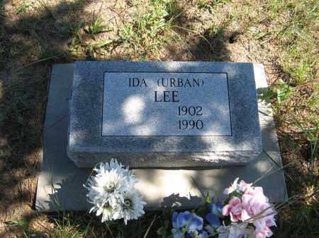 URBAN LEE, IDA - Holt County, Nebraska   IDA URBAN LEE - Nebraska Gravestone Photos