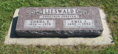 LIESWALD, EMIL J. - Holt County, Nebraska | EMIL J. LIESWALD - Nebraska Gravestone Photos