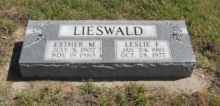 LIESWALD, ESTHER M. - Holt County, Nebraska | ESTHER M. LIESWALD - Nebraska Gravestone Photos
