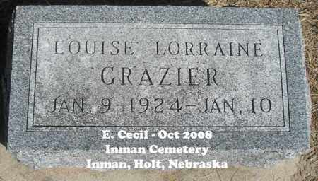 GRAZIER LOUISE, LORRAINE - Holt County, Nebraska | LORRAINE GRAZIER LOUISE - Nebraska Gravestone Photos