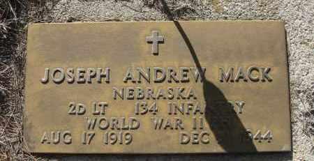 MACK, JOSEPH ANDREW - Holt County, Nebraska | JOSEPH ANDREW MACK - Nebraska Gravestone Photos