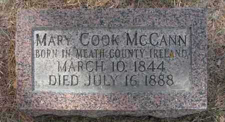 COOK MCCANN, MARY - Holt County, Nebraska | MARY COOK MCCANN - Nebraska Gravestone Photos