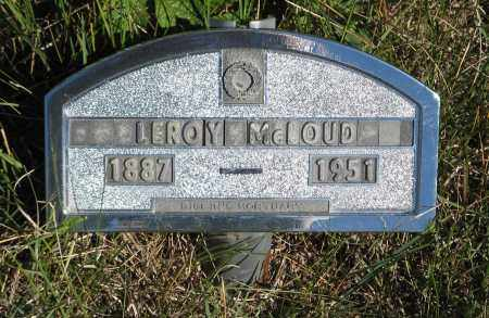 MCLOUD, LEROY - Holt County, Nebraska | LEROY MCLOUD - Nebraska Gravestone Photos