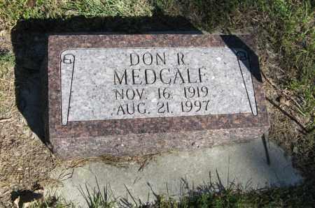 MEDCALF, DON R. - Holt County, Nebraska | DON R. MEDCALF - Nebraska Gravestone Photos