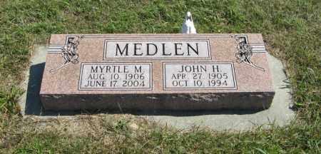 MEDLEN, JOHN H. - Holt County, Nebraska | JOHN H. MEDLEN - Nebraska Gravestone Photos