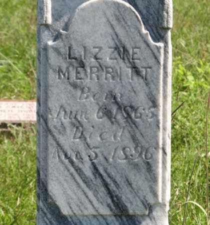 MERRITT, LIZZIE (CLOSEUP) - Holt County, Nebraska | LIZZIE (CLOSEUP) MERRITT - Nebraska Gravestone Photos