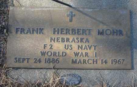 MOHR, FRANK HERBERT (MILITARY) - Holt County, Nebraska | FRANK HERBERT (MILITARY) MOHR - Nebraska Gravestone Photos