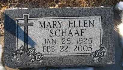 SCHAAF MONAHAN, MARY ELLEN - Holt County, Nebraska   MARY ELLEN SCHAAF MONAHAN - Nebraska Gravestone Photos