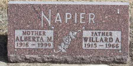 NAPIER, ALBERTA M. - Holt County, Nebraska | ALBERTA M. NAPIER - Nebraska Gravestone Photos