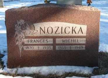 NOZICKA, FRANCES - Holt County, Nebraska | FRANCES NOZICKA - Nebraska Gravestone Photos
