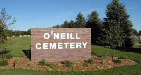 *O'NEILL CEMETERY, SIGN - Holt County, Nebraska | SIGN *O'NEILL CEMETERY - Nebraska Gravestone Photos