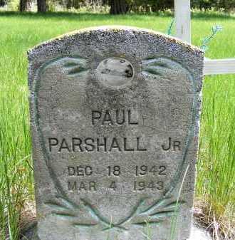 PARSHALL, PAUL JR. - Holt County, Nebraska | PAUL JR. PARSHALL - Nebraska Gravestone Photos