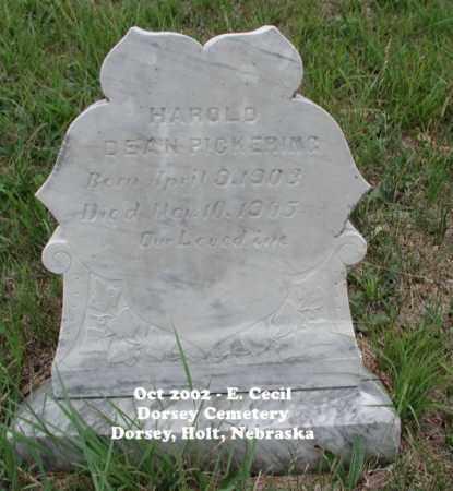 PICKERING, HAROLD DEAN - Holt County, Nebraska | HAROLD DEAN PICKERING - Nebraska Gravestone Photos