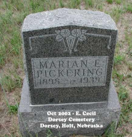PICKERING, MARIAN E. - Holt County, Nebraska   MARIAN E. PICKERING - Nebraska Gravestone Photos