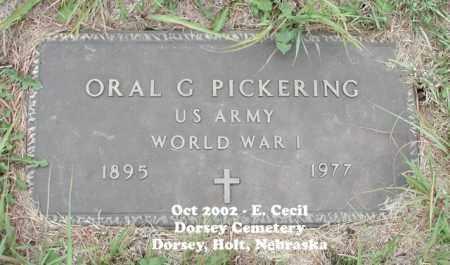 PICKERING, ORAL GUY - Holt County, Nebraska | ORAL GUY PICKERING - Nebraska Gravestone Photos