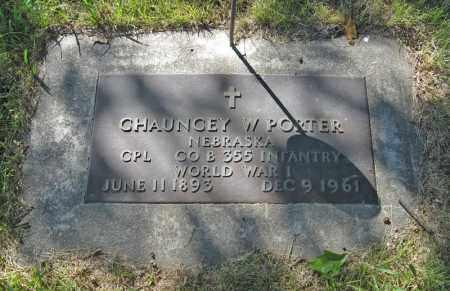 PORTER, CHAUNCEY W. (MILITARY MARKER) - Holt County, Nebraska | CHAUNCEY W. (MILITARY MARKER) PORTER - Nebraska Gravestone Photos