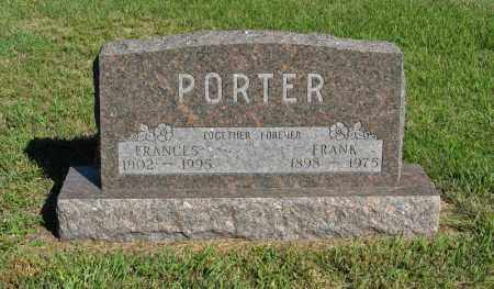 PORTER, FRANK - Holt County, Nebraska | FRANK PORTER - Nebraska Gravestone Photos