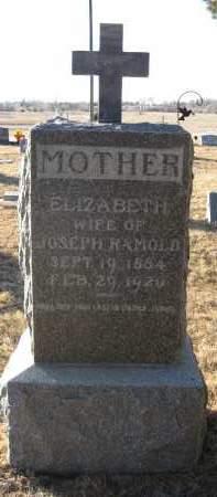 RAMOLD, ELIZABETH - Holt County, Nebraska | ELIZABETH RAMOLD - Nebraska Gravestone Photos