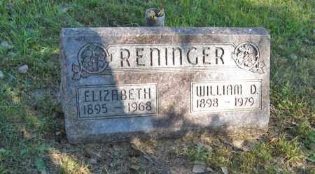 RENINGER, ELIZABETH - Holt County, Nebraska   ELIZABETH RENINGER - Nebraska Gravestone Photos