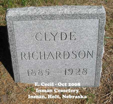 RICHARDSON, CLYDE - Holt County, Nebraska | CLYDE RICHARDSON - Nebraska Gravestone Photos