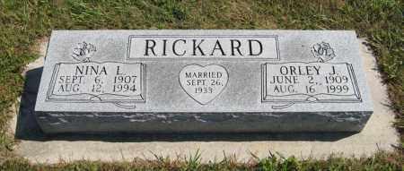 RICKARD, NINA L. - Holt County, Nebraska | NINA L. RICKARD - Nebraska Gravestone Photos