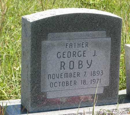 ROBY, GEORGE J. - Holt County, Nebraska   GEORGE J. ROBY - Nebraska Gravestone Photos