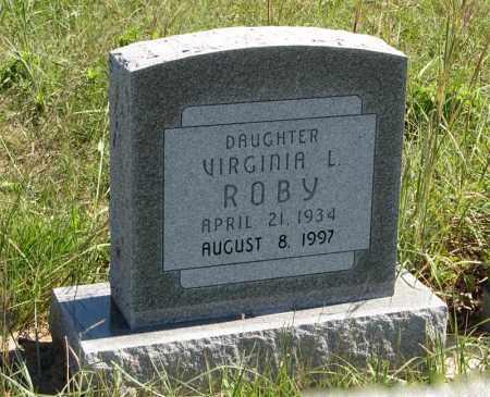 ROBY, VIRGINIA L. - Holt County, Nebraska   VIRGINIA L. ROBY - Nebraska Gravestone Photos