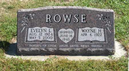 ROWSE, EVELYN L. - Holt County, Nebraska   EVELYN L. ROWSE - Nebraska Gravestone Photos