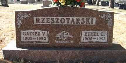 RZESZOTARSKI, GAINES V - Holt County, Nebraska   GAINES V RZESZOTARSKI - Nebraska Gravestone Photos