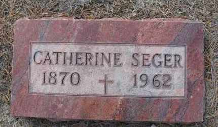 SEGER, CATHERINE - Holt County, Nebraska | CATHERINE SEGER - Nebraska Gravestone Photos