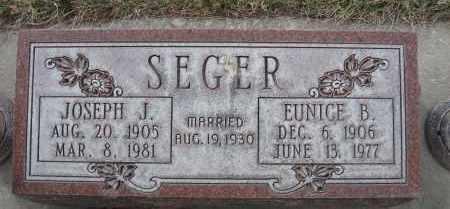 SEGER, JOSEPH J - Holt County, Nebraska | JOSEPH J SEGER - Nebraska Gravestone Photos