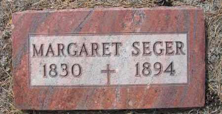 SEGER, MARGARET - Holt County, Nebraska | MARGARET SEGER - Nebraska Gravestone Photos