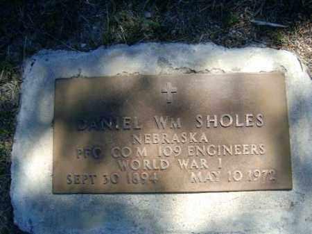 SHOLES, DANIEL - Holt County, Nebraska | DANIEL SHOLES - Nebraska Gravestone Photos