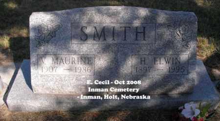 SMITH, V. MAURINE - Holt County, Nebraska   V. MAURINE SMITH - Nebraska Gravestone Photos