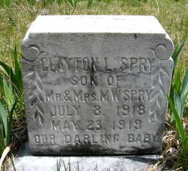 SPRY, CLAYTON L. - Holt County, Nebraska | CLAYTON L. SPRY - Nebraska Gravestone Photos