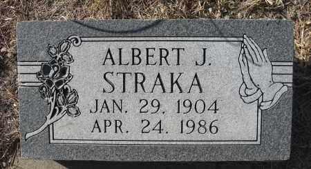 STRAKA, ALBERT J - Holt County, Nebraska   ALBERT J STRAKA - Nebraska Gravestone Photos