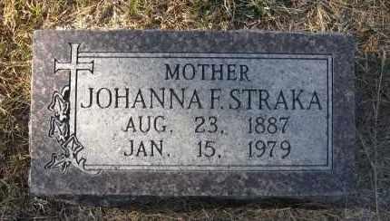 STRAKA, JOHANNA F. - Holt County, Nebraska | JOHANNA F. STRAKA - Nebraska Gravestone Photos