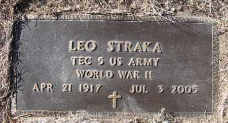 STRAKA, LEO - Holt County, Nebraska   LEO STRAKA - Nebraska Gravestone Photos