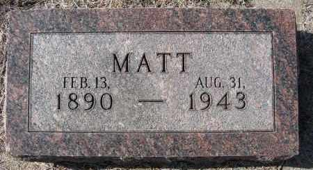 STRAKA, MATT - Holt County, Nebraska   MATT STRAKA - Nebraska Gravestone Photos