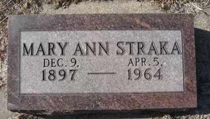 STRAKA, MARY ANN - Holt County, Nebraska | MARY ANN STRAKA - Nebraska Gravestone Photos