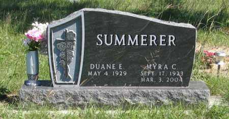 SUMMERER, MYRA C. - Holt County, Nebraska | MYRA C. SUMMERER - Nebraska Gravestone Photos