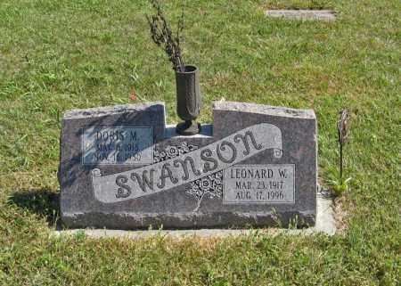 SWANSON, LEONARD W. - Holt County, Nebraska   LEONARD W. SWANSON - Nebraska Gravestone Photos